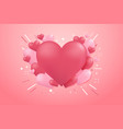 heart shape balloon background for valentines vector image