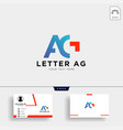 letter ag or g creative logo template with vector image vector image