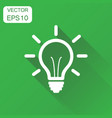 light bulb icon business concept idea electric vector image
