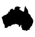 map of australia icon black color flat style vector image vector image
