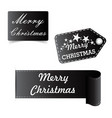 merry christmas black sticker badge vector image vector image