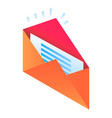 new email icon isometric style vector image vector image
