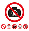 no camera sign on white background vector image