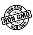 non gmo round grunge black stamp vector image vector image