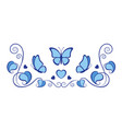 plant ornament with butterflies vector image