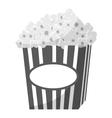 Popcorn icon gray monochrome style vector image vector image