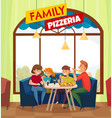 restaurant pub visitors colored composition vector image vector image