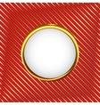 Royal circle frame vector image vector image
