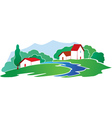 Rural background vector image