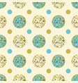 seamless background of circles vector image vector image