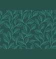 seamless linear pattern floral ornament vector image