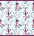 seamless pattern with christmas deer and new year vector image vector image