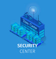 security center square banner energy station vector image vector image