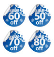 set christmas sale stickers vector image vector image
