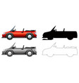 set sport car vector image