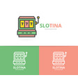 simple jackpot slot machine logo design template vector image