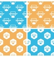 Sitemap pattern set colored vector image vector image