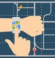 smart watch navigator vector image