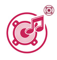 Speaker icon isolated single color music theme vector image