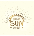sunshine gold silhouette vector image vector image