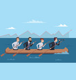 team destination business successful managers vector image vector image