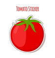 tomato sticker made in cartoon flat style vector image vector image
