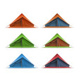 tourist tent set vector image