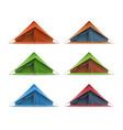 tourist tent set vector image vector image