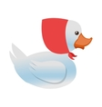 toy rubber duck icon vector image vector image