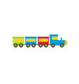 toy train icon flat style vector image