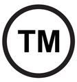 Trademark symbol icon vector image vector image