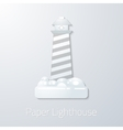 Travel Paper Lighthouse flat icon vector image