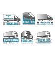 truck logo business symbols emblems vector image