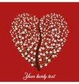 vintage love tree vector image