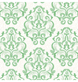 Watercolor green vintage floral seamless pattern vector image