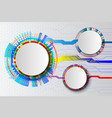 white technology abstract circuit hi-tech vector image vector image