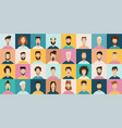 young man avatar flat style icon set male vector image vector image