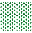Pine trees seamless pattern background vector image