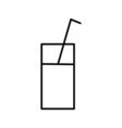 glass of water outline icon vector image