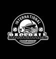 baseball badge logo emblem template international vector image vector image