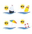 beach icon art vector image vector image