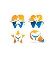 best dental care set vector image