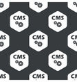 Black hexagon CMS settings pattern vector image vector image
