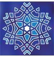blue grid mosaic hexagon snowflake papercut vector image vector image