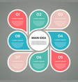 business concept with 8 options parts steps vector image vector image