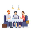 business dinner meeting with work partner or vector image vector image