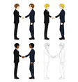 Business Two Men Hand Shake vector image