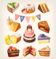 Cakes and pies vector image