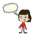 cartoon worried boy with speech bubble vector image vector image