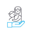 children insurance thin line stroke icon vector image